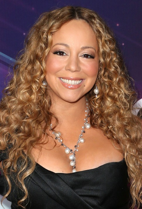 Long Tight Waves With Balayage Highlighting Mariah Carey