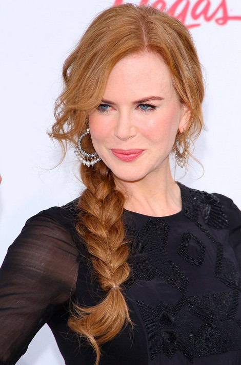 Copper Hair Messy Side Braided Hairstyle For Women