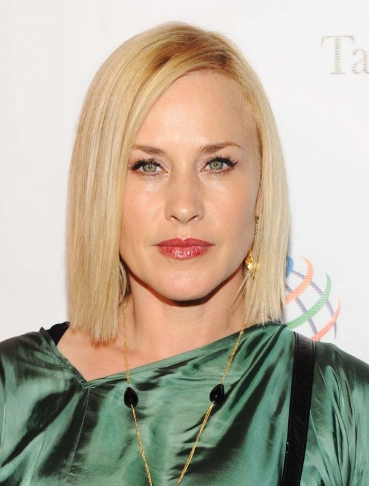 Arquette's Latest Hairstyle: Trendy lob hairstyle - sleek hairstyle