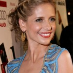 Stylish Unique Braided Updo 2014 - Sarah Michelle Gellar hairstyle