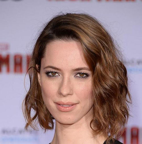 Tousled curly bob hairstyle for women