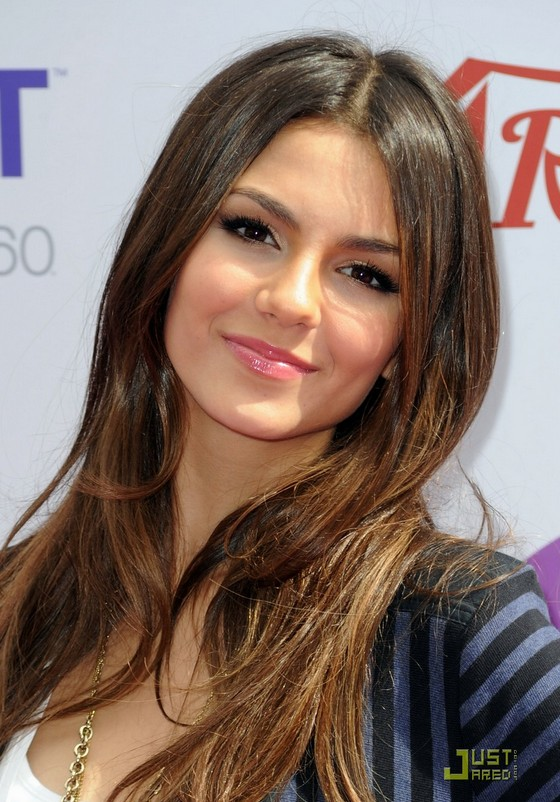Casual Long Straight Ombre Hair - Victoria Justice hairstyles