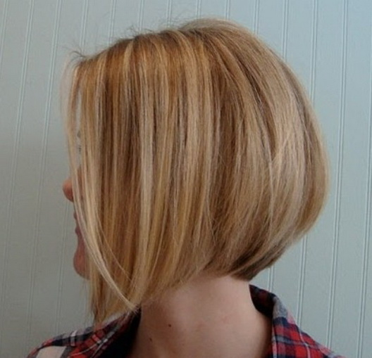 Back View Of Angled Piecey Bob Haircut Haircuts