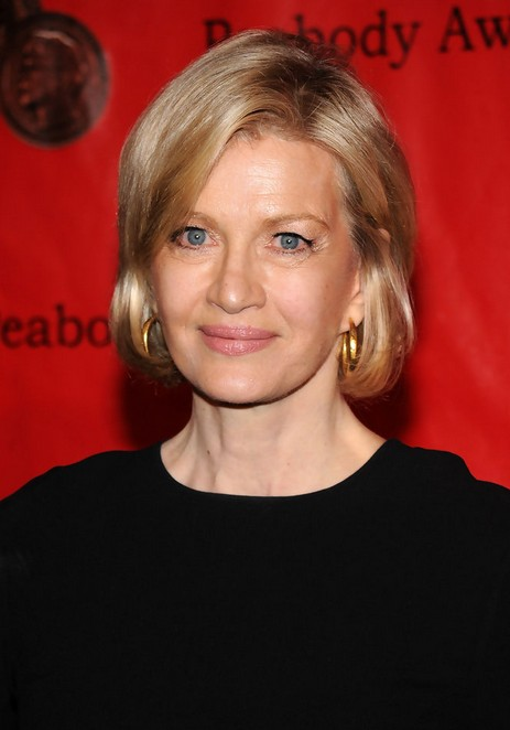 Diane Sawyer Short Bob Hairstyle for Old Women