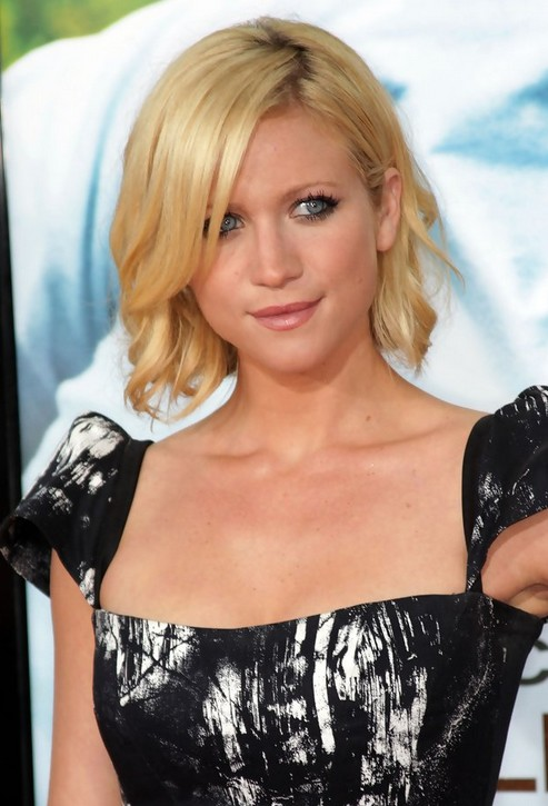 Cute Medium Blonde Wavy Bob Hairstyle - Short Haircuts 2014 - Brittany Snow Hairstyles