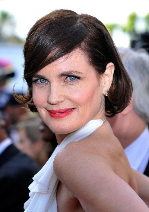 2014 Short Bob Hairstyle for Women Over 50 - Elizabeth McGovern Hairstyles