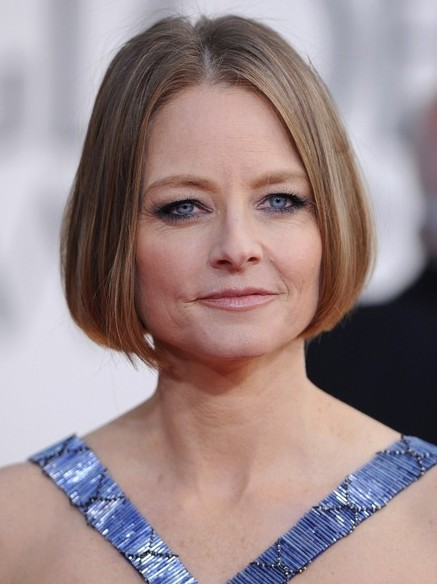 Short Sleek Bob Haircut for Women Over 50 - Jodie Foster Hairstyles 2014
