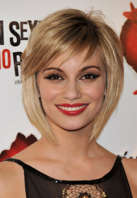 Short Blonde Textured Bob Hairstyle - Popular Short Haircuts 2014 - Norma Ruiz Hairstyles