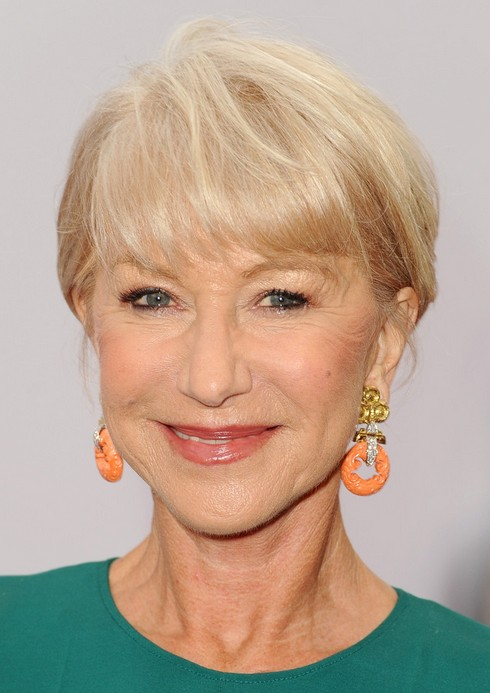 Helen Mirren Short Haircut - Hairstyle for Women Over 60