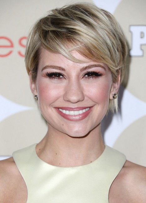 Chelsea Kane Short Haircut - Asymmetric Short Hairstyle with Bangs