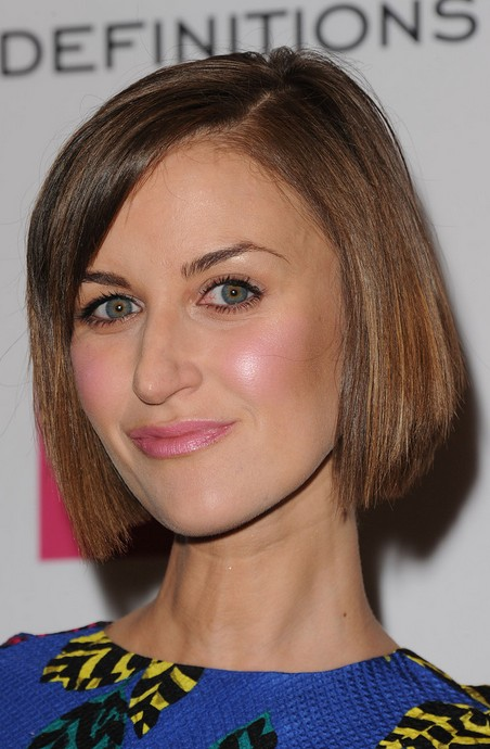 Katherine Kelly Short Haircut - Classic Straight Bob Hairstyle