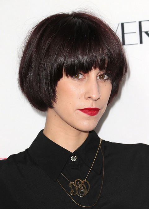 Devin Star Tailes Short Haircut - Modern Short Black Haircut with Full Bangs