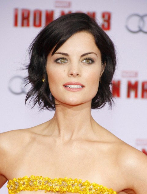 Jaimie Alexander Short Hair Style - Short Black Hairstyle with Waves