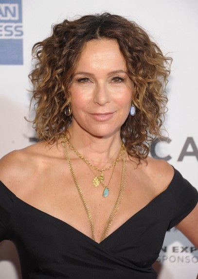 Jennifer Grey Short Hair Style - Curly Hairstyle for Thick Hair