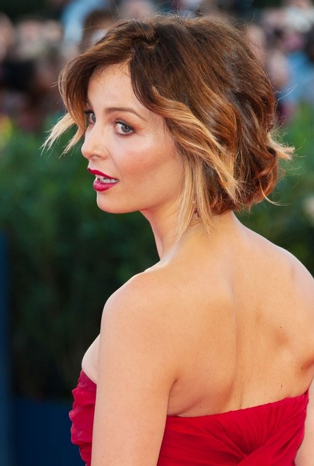 Violante Placido Short Ombre Hair- Ombre Hair Color Ideas