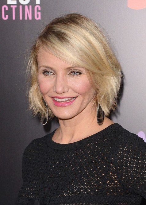 Hairstyle for Women Over 40 - Cameron Diaz Short Bob Hairstyle for 2019