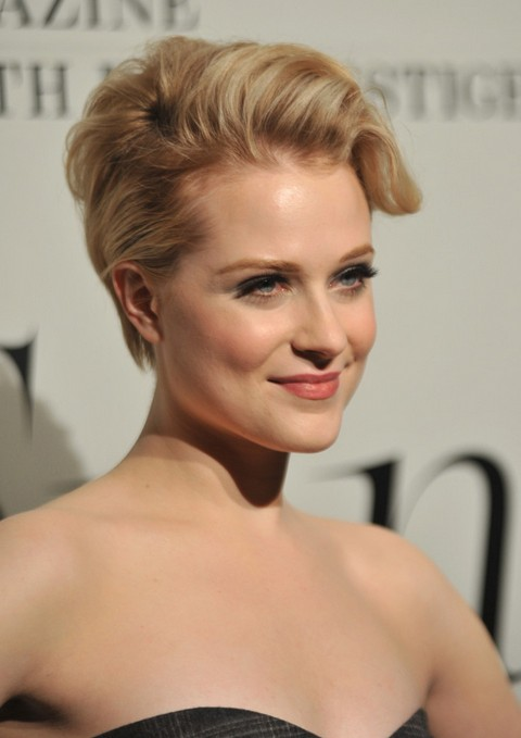 Updo for Short Hair - Evan Rachel Wood Short Blonde Updo 2014