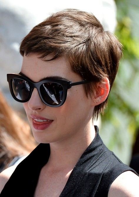 Anne Hathaway Pixie Cut for 2014 - Cool Short Boy Cut for Women