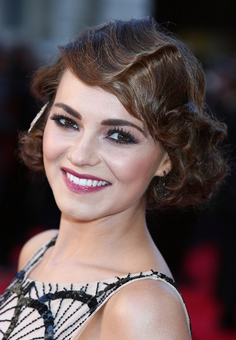 Elegant Retro Updo for Short Hair - Kara Tointon Finger Wave Hairstyle for 2014