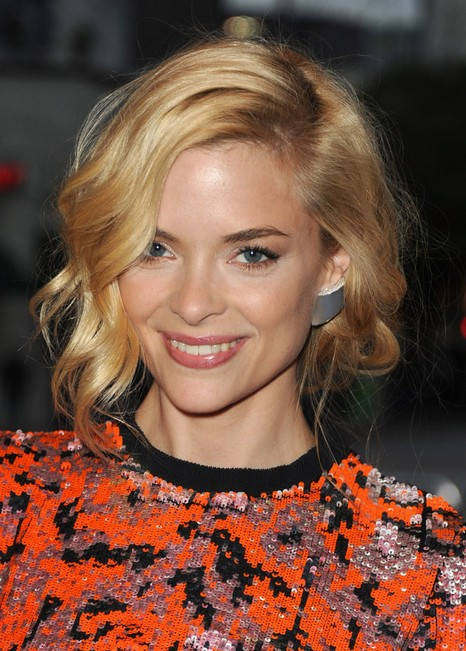 Jaime King Messy Short Bob Hairstyle