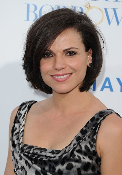 Lana Parrilla Layered Bob Hairstyle for Thick Hair