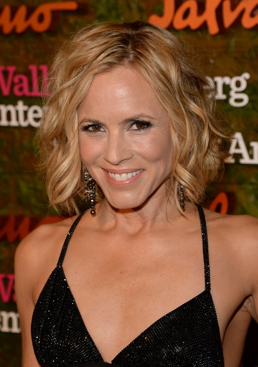 2014 Tousled Curly Hairstyle for Women Over 40 from Maria Bello
