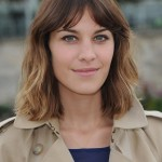 Alexa Chung Short Hairstyle - Sexy Ombre Demi-Bob Hair Style with Bangs