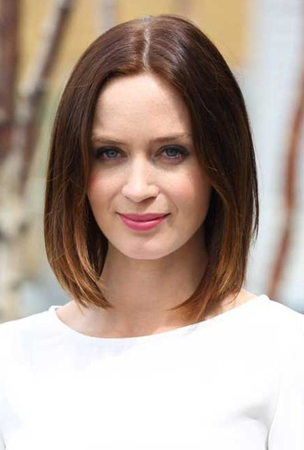 Ombred Bob Hairstyle - Classic Center Parting Short Bob Hairstyle