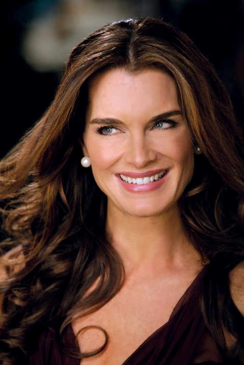 Brooke Shields long Brunette Hairstyles for summer