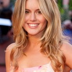Caggie Dunlop long ombre hair style for women