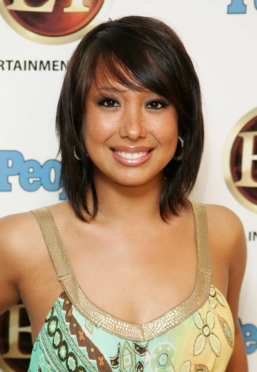 Cheryl Burke Hairstyles - layered short bob hairstyle with bangs