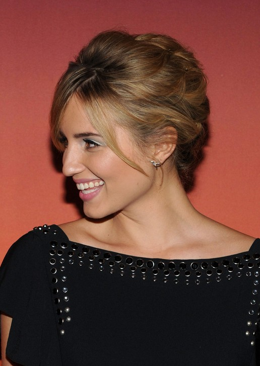 Dianna Agron Bobby Pinned Updo 2014