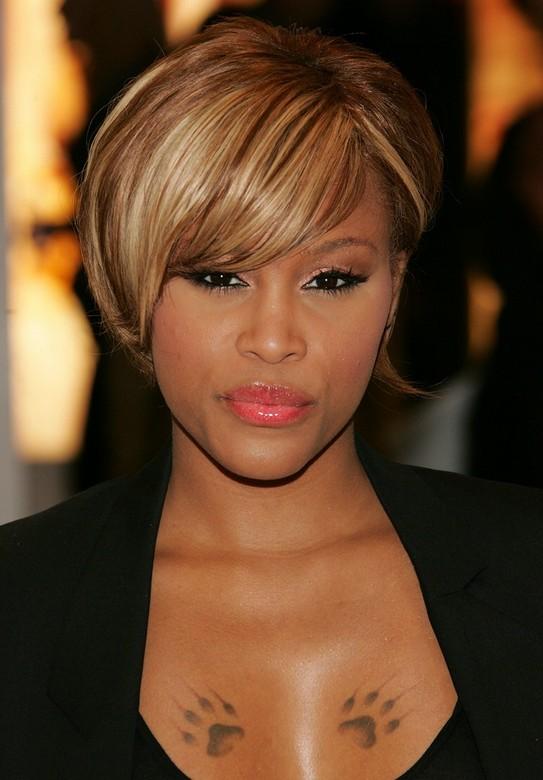 Superb Trendy African American Short Straight Haircut Celebrity Eve39S Short Hairstyles Gunalazisus