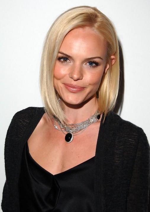 Celebrity Short Cut Super Sleek Blonde Bob Kate Bosworth