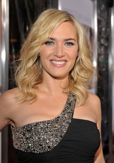 Outstanding Celebrity Medium Blonde Wavy Hairstyle With Layers Kate Winslet Short Hairstyles For Black Women Fulllsitofus