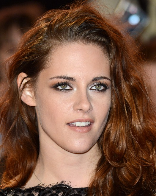 Long Copper Colored Hairstyle For Thick Hair Kristen