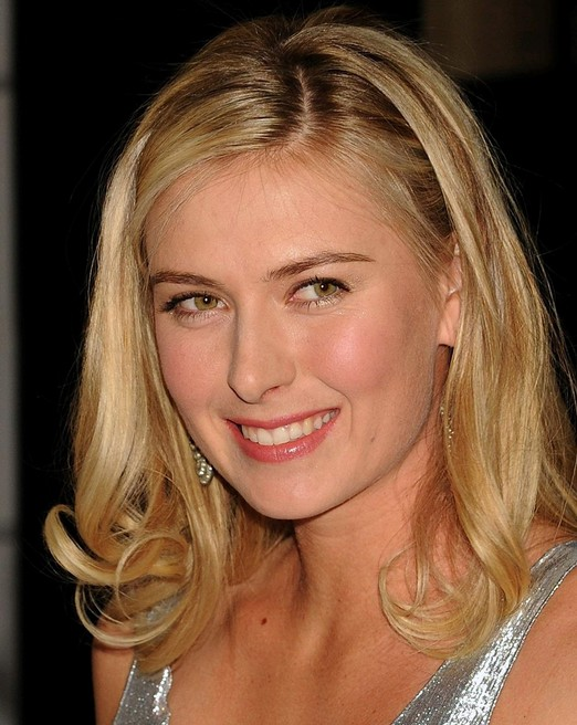 Maria Sharapova Hairstyle - long blonde straight hairstyle for women