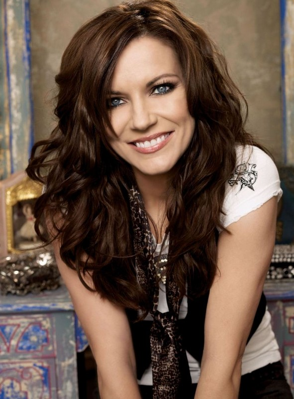 Terrific Celebrity Long Thick Wavy Hairstyle Martina Mcbride Hairstyles Hairstyles For Women Draintrainus