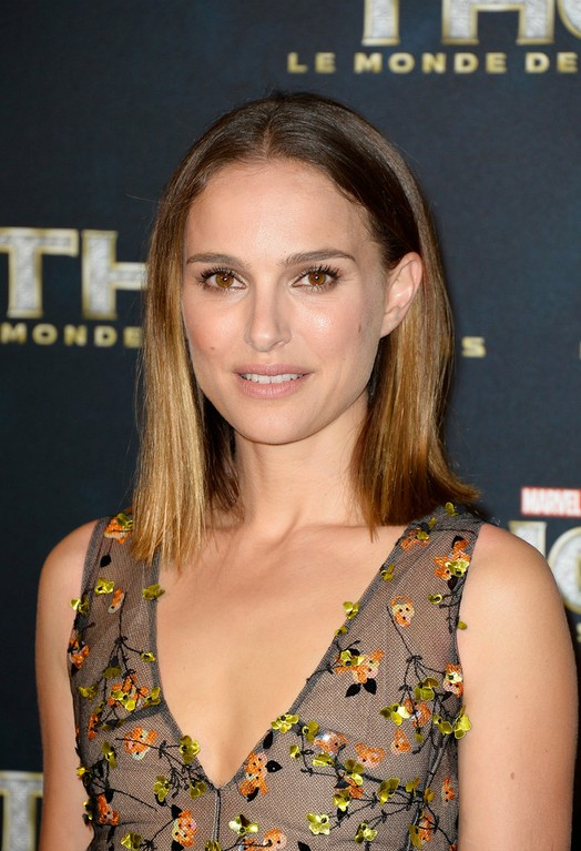 Natalie Portman Shoulder Length Hairstyle for 2014