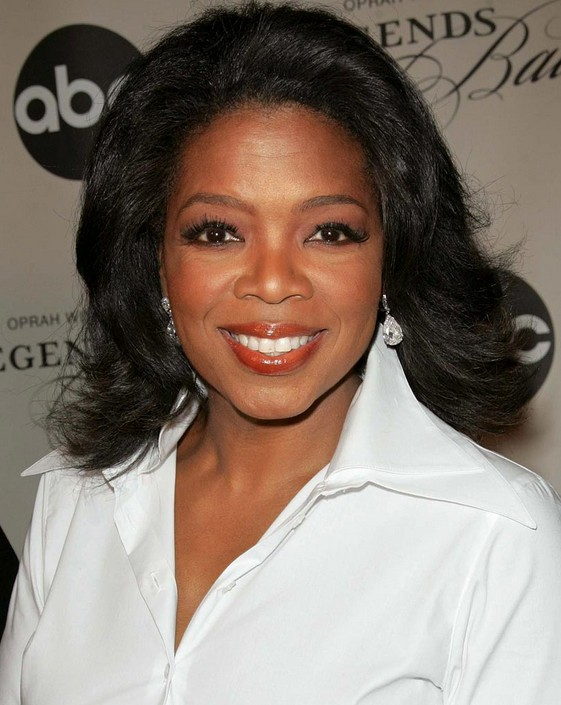Afro American Shoulder Length Black Hairstyle - Oprah Winfrey\'s ...