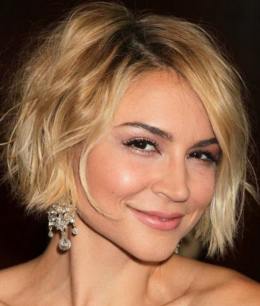 Short Bob - Feminine Short Wavy Curly Bob Hairstyle for 2014