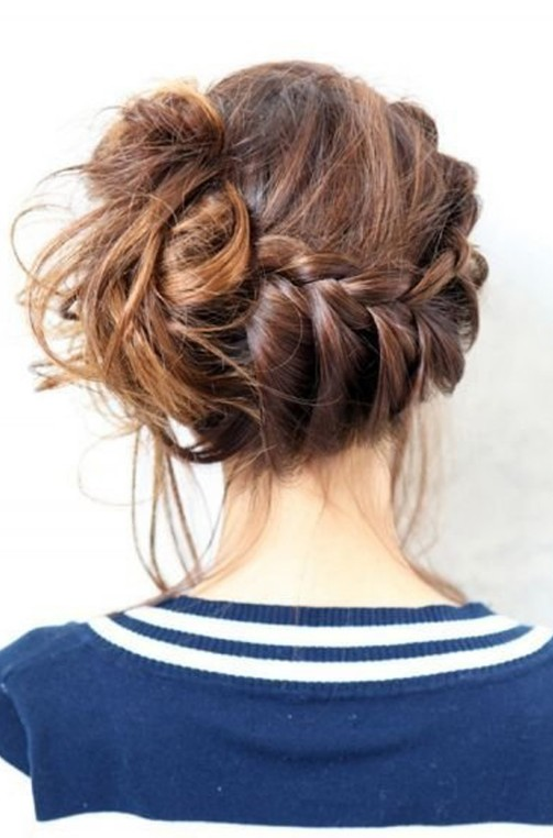 Back View of Messy Braided Updo - So Cute!!! - Hairstyles Weekly