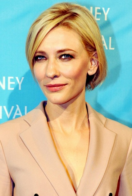 Cate Blanchett Short Bob Cut Short Blonde Hairstyle For Women