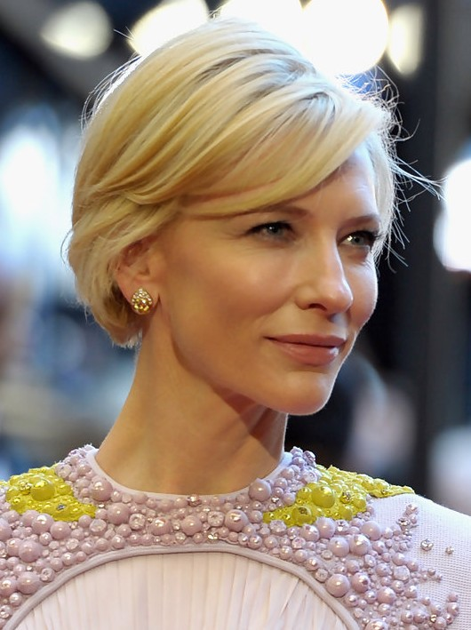 Incredible Cate Blanchett Short Haircut Short Straight Hairstyle With Bangs Short Hairstyles For Black Women Fulllsitofus