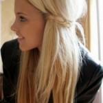 Cute girls long blonde hair