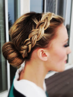 Front Braid To Bun
