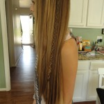 Long Hipster Hair - Highlighted Straight Style with Asymmetrical Braid for girls
