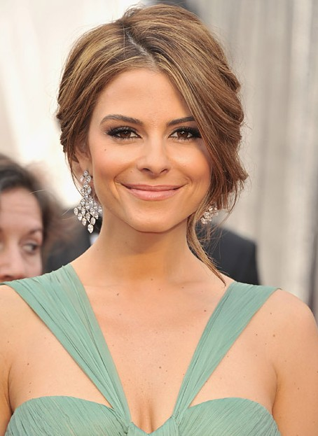 Maria Menounos hairstyles - updo for wedding