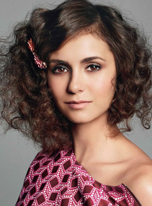Nina Dobrev Hairstyle with curls for young women only