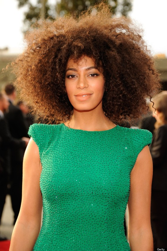 Curly Hairstyle Shoulder Length : Natural curly hairstyle for medium length hair solange knowles